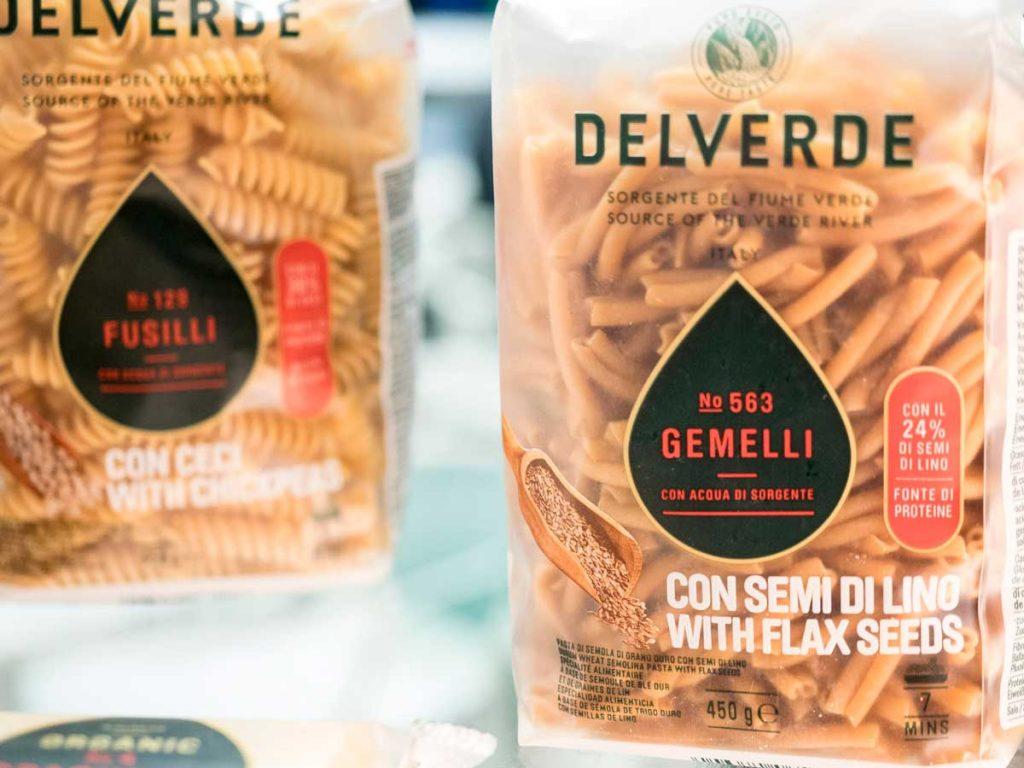 Pastificio Del Verde: pasta con semi di lino e pasta con farina di ceci