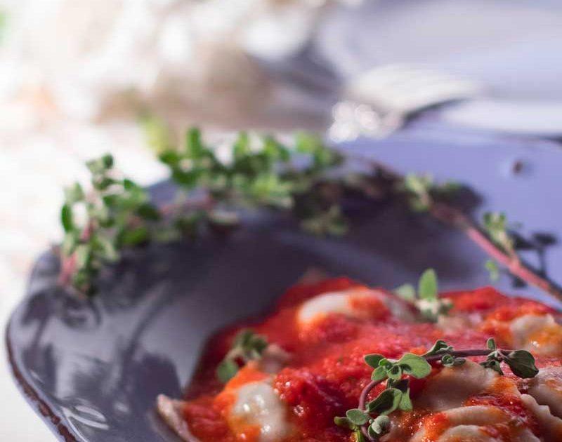 Ravioli integrali con spinaci e ricotta