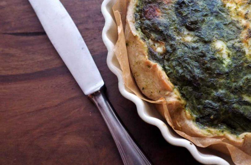 Torta salata al farro con spinaci e crescenza