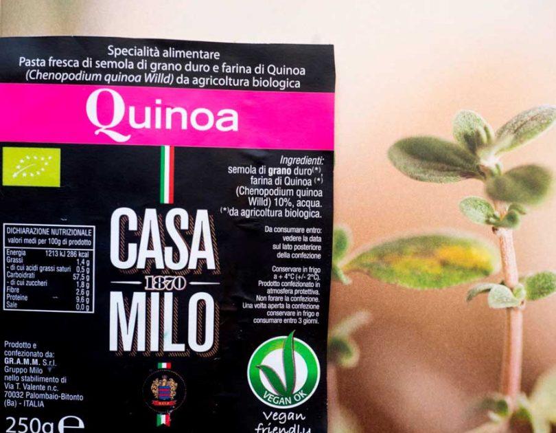 Pasta fresca di semola con farina di Quinoa – Casa Milo