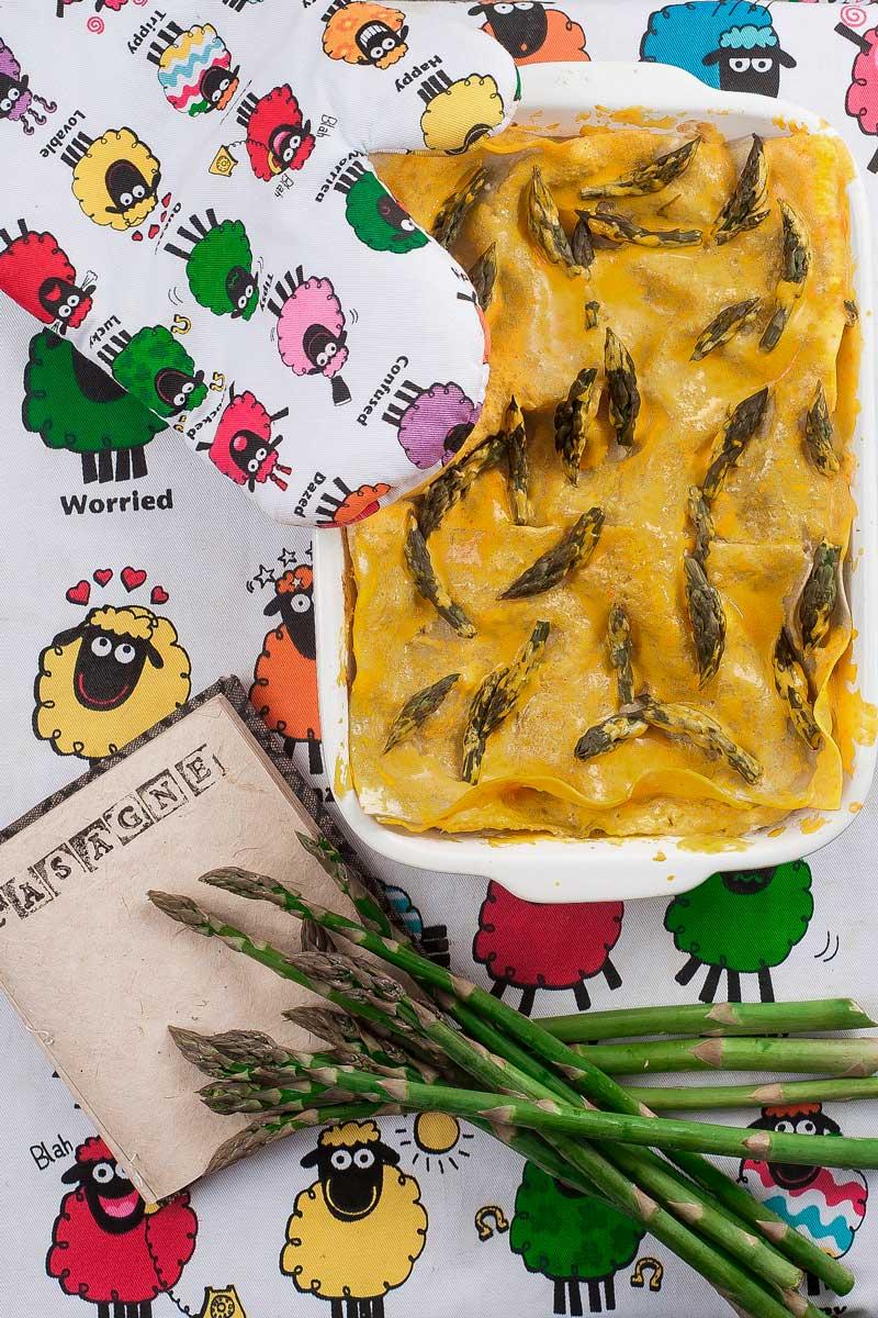 Lasagna al pesto di asparagi